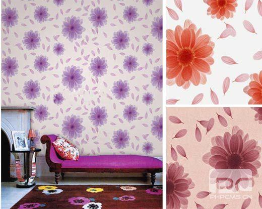 新款花纹墙纸; 3个家居空间欧式风格设计